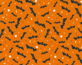 Holiday Essentials Halloween - Bats - Pumpkin (Orange) - 1/4 yard