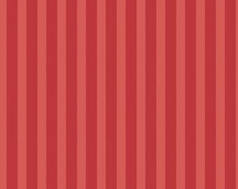 CLEARANCE!!! Ava Kate Stripes Cayenne - 1/4 yard