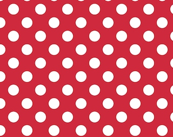 Medium Dot Red - 1/4 yard