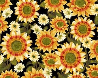 CLEARANCE!!! Pumpkin Harvest Sunflower - 1/4 yard
