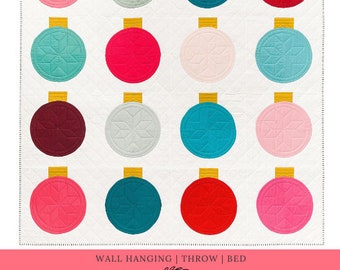 Retro Ornaments Paper Quilt Pattern