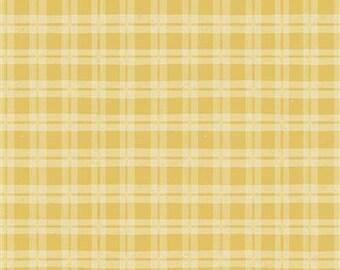 Lemonade Plaid - Dark Yellow - 1/4 yard
