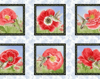 Poppy Meadows 1986-18 RED - Panel