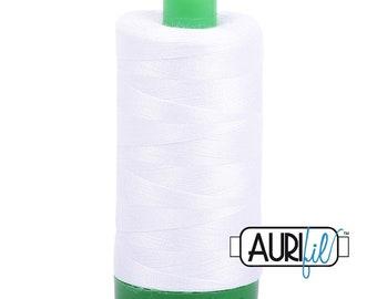 Aurifil Mako Cotton 40 wt Thread - White