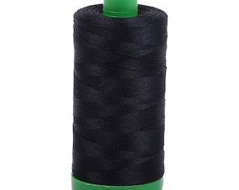 Aurifil Mako Cotton Thread Black  40wt