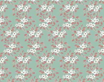 Whimsical Romance - Posies Mint - 1/4 yard