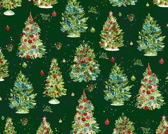 O Christmas Tree - Trees - Dark Forest - 1/4 yard
