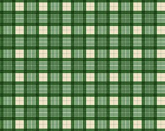 Evergreen Farm - Green Plaid - 1/4 yard