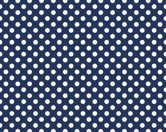 Medium Dots Navy - 1/4 yard