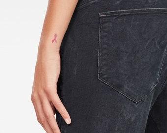 Pink Ribbon Tattoo Etsy