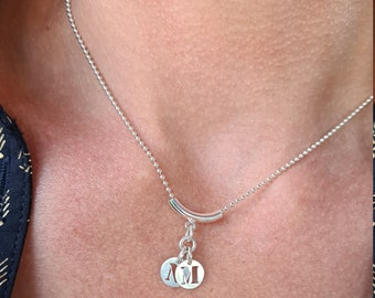 Silver necklace 925 to customize with the 925 Silver letters of your choice