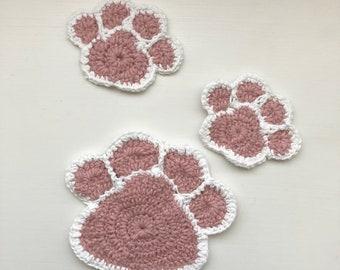 Crochet Paw Coaster You Can Make Easily | CrochetBeja | 270x340
