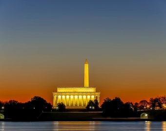 Jefferson Memorial Print Tidal Basin Sunrise National Mall Landscape Photography Washington DC Photography Capitol
