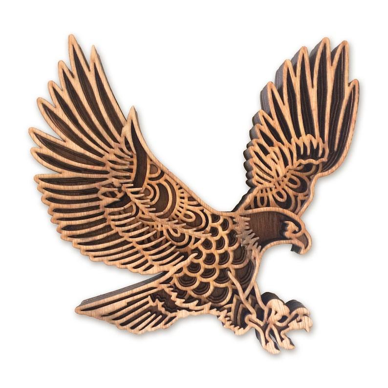 Download Eagle model multi layer mandala laser cut file commercial ...