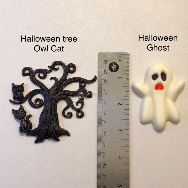 skeleton holiday Halloween spider skull hand Edible Fondant Halloween cupcake toppers Edible Fondant Halloween cake toppers pumpkins