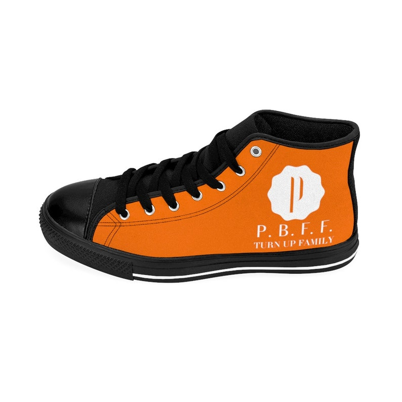 PBFF Men/'s High-top Sneakers Orange