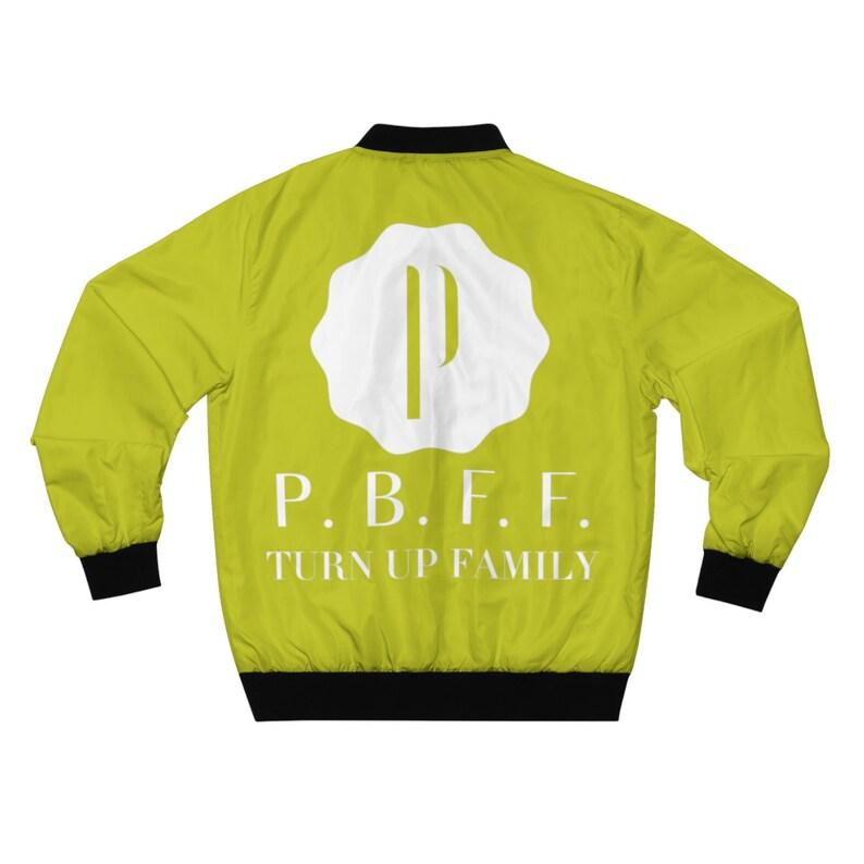 PBFF Neon Yellow Men/'s AOP Bomber Jacket