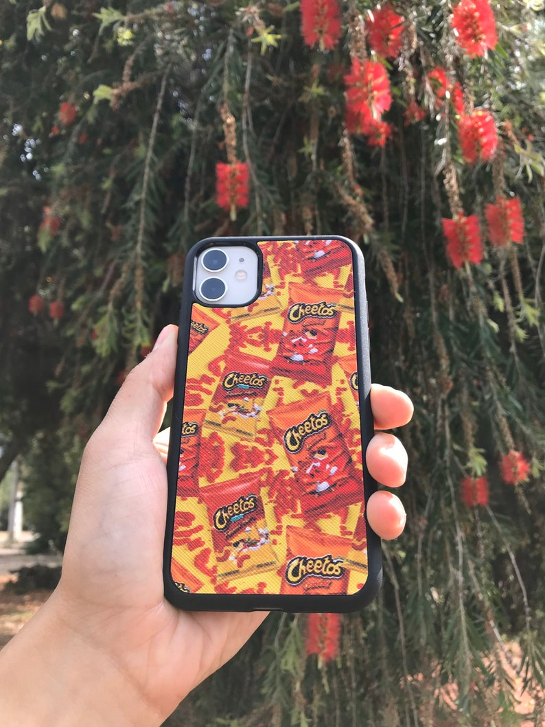 11 Pro Cheetos Faux Leather Inspired Case iPhone 12 11 s10+ 11 Pro Max s10e Samsung s10 S20 IPhone X,XS,XR