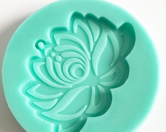 Silicone Mold, Lotus Flower, Resin Mold, Epoxy Mold