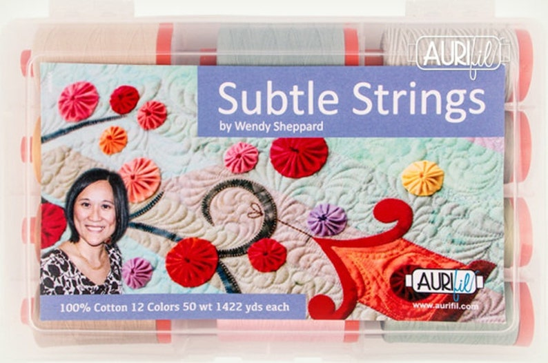 Aurifl SUBTLE STRINGS Thread Collection  12 large spools of image 0
