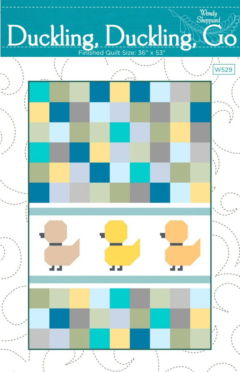 DUCKLING DUCKLING GO Duck Fat Quarter Friendly Baby Quilt image 0
