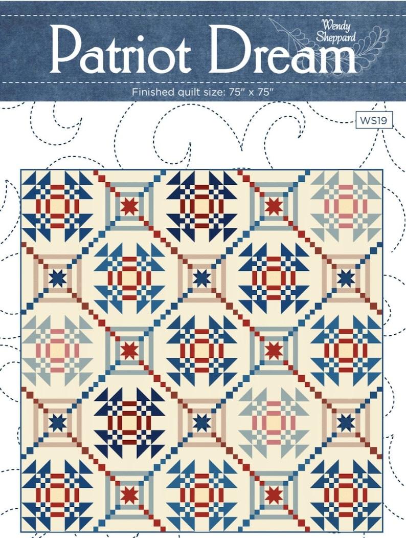 PATRIOT DREAM Quilt Digital Pattern PDF Download Patriotic image 0