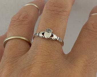 Loyalty Love Friendship Claddagh Ring Skinny Claddagh Ring,Sterling Silver Claddagh Ring Personalize Claddagh Ring Claddagh Ring