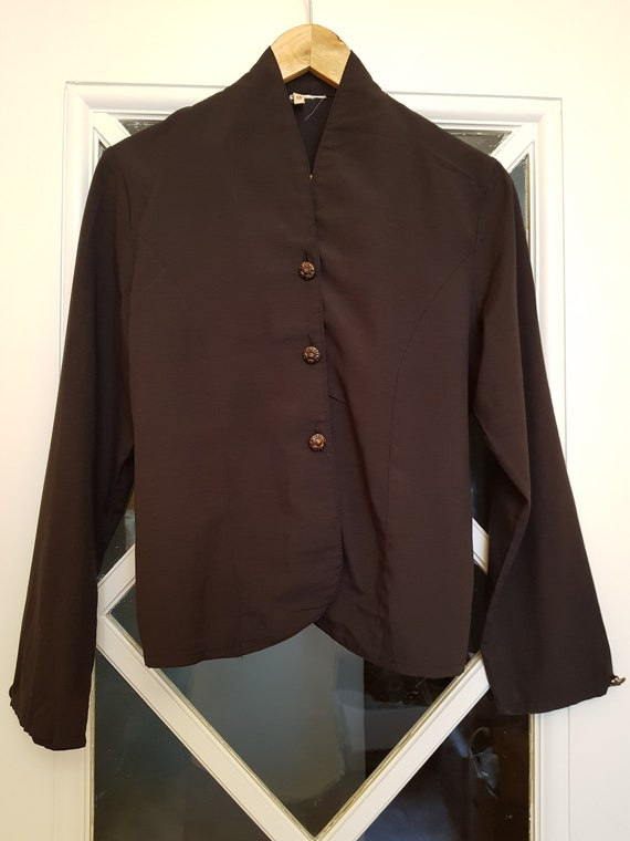 50's blouse - black