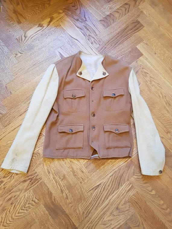 1940s Two-tone Wool Jacket, Swedish design, rare p