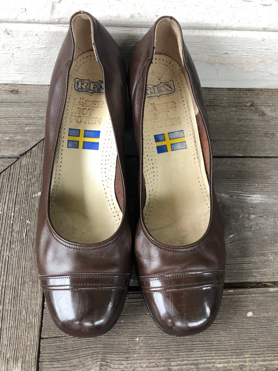 1960s brown leather shoes