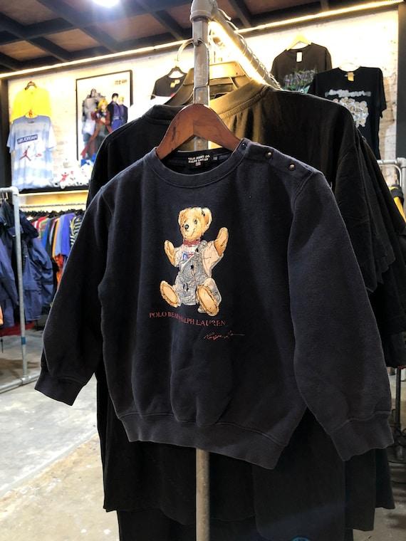 Vintage Polo Bear Ralph Lauren Kids Sweater