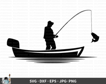 Fishing Boat Svg Etsy