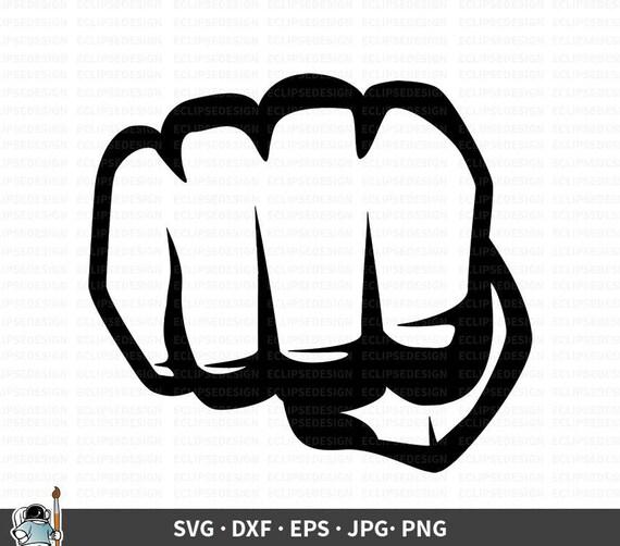 Fist Svg Punch Vector Fist Clipart Fist Cricut Fist Cut Etsy