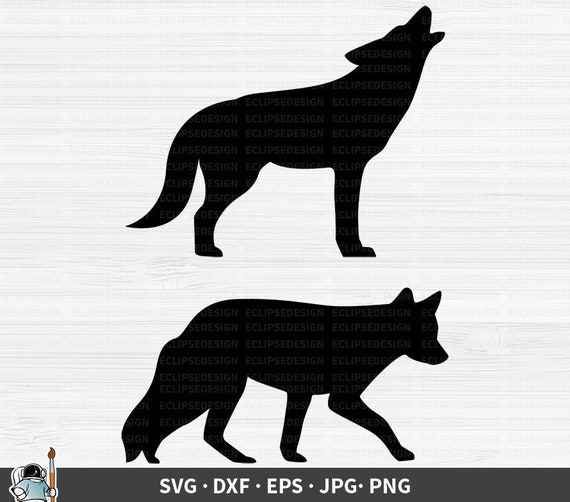 Coyote Howling SVG DXF Graphic Art Cut Files