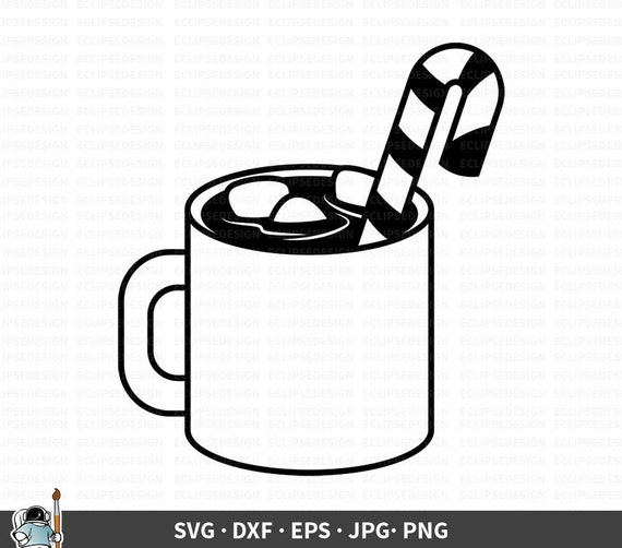 Hot Cocoa Svg Cocoa Vector Hot Chocolate Svg Christmas Etsy