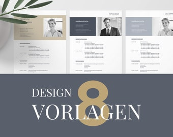 8 application templates German   Curriculum vitae template    eBook with video   Microsoft Word, Apple Pages, OpenOffice, and LibreOffice