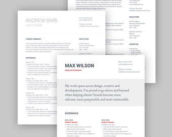 3 Google Docs Resume Template   ALL TEMPLATES PACKAGE   English