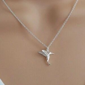 hummingbird necklace petite hummingbird tiny gold bird necklace