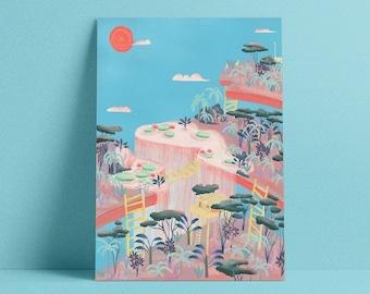 A3 - poster - illustration - Childhood landscape