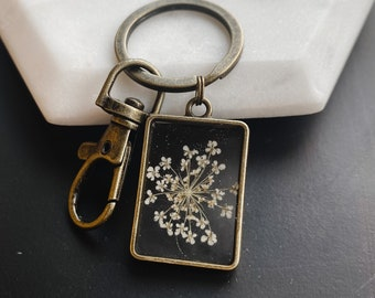 Queen Anne/'s Lace I Keychain