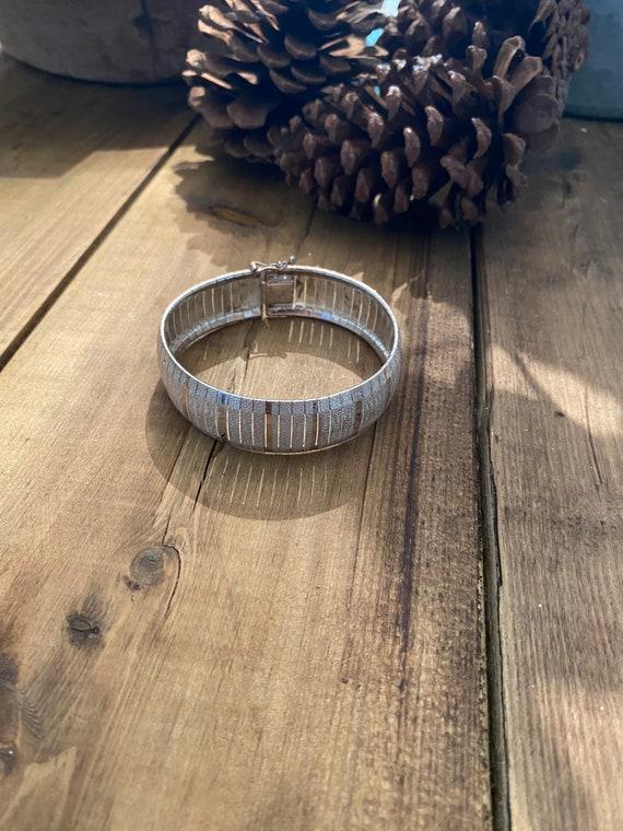 Gorgeous solid silver bracelet assay hallmarked ,… - image 5