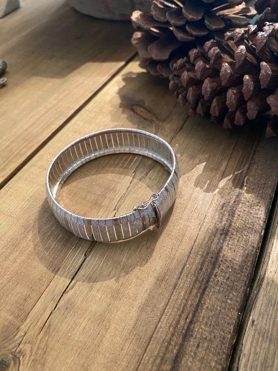 Gorgeous solid silver bracelet assay hallmarked ,… - image 6