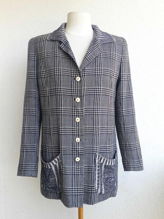 90s VALENTINO - Miss V Blazer VIntage Woolen Black