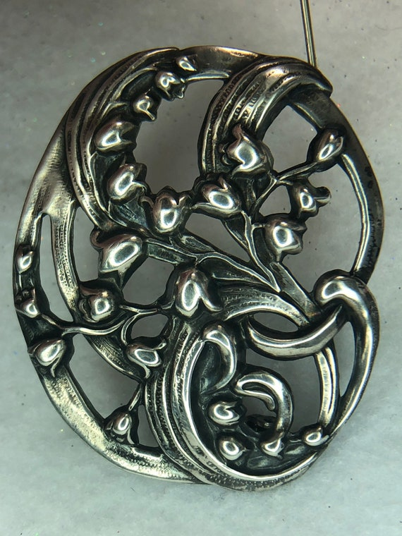 Vintage Sterling Art Nouveau Lily of the Valley Br