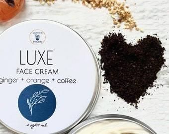 Nourishing Face Lotion, Luxe Face Cream, Dry Skin Cream, Anti-Aging Moisturizer, Coffee infused Face Lotion, Natural Skin Care