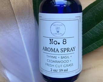 Natural Body Spray- #8 Aroma Spray, aromatherapy mist, gift for her/him, Herbal room and linen spray, essential oil body mist