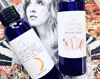 Stevie Nicks Inspired Body Perfume Mist, Stevie Nicks, StoryTeller, Crystal Visions, Aromatherapy, Natural Perfume Spray, Fleetwood Mac Fan,