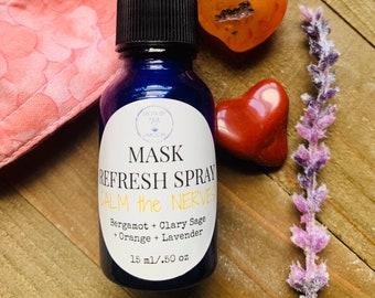 Face Mask Spray, Anxiety Spray, Refreshing Spray, Mask Deodorizer, Cloth Freshener