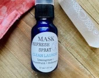 Face Mask Spray, Aromatherapy Mask mist, clean laundry fresh scent, Refreshing Spray, Mask Deodorizer, Cloth Freshener