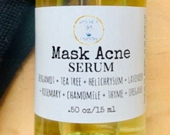 Maskne serum, Acne Relief, Breakout facial oil, Mother & Moon, Mask acne oil, Natural Skin Care